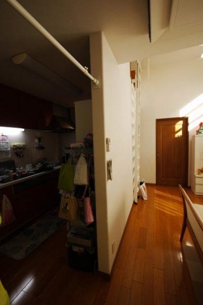 玄関とお風呂を共用にした同居型の二世帯住宅