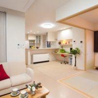 LDK+和室のワンルーム設計の家